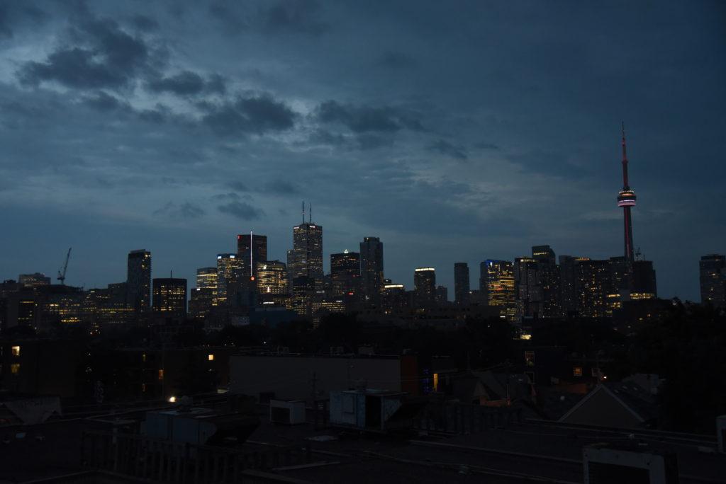 Toronto skyline in the evening
