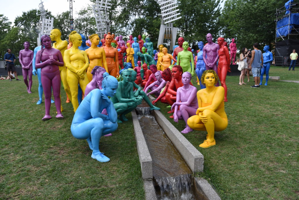 lots of people in different colours of bodypaint
