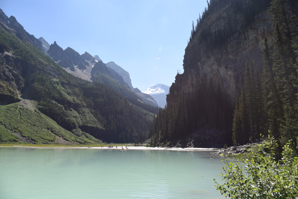 Lake Louise, mountains in the background
