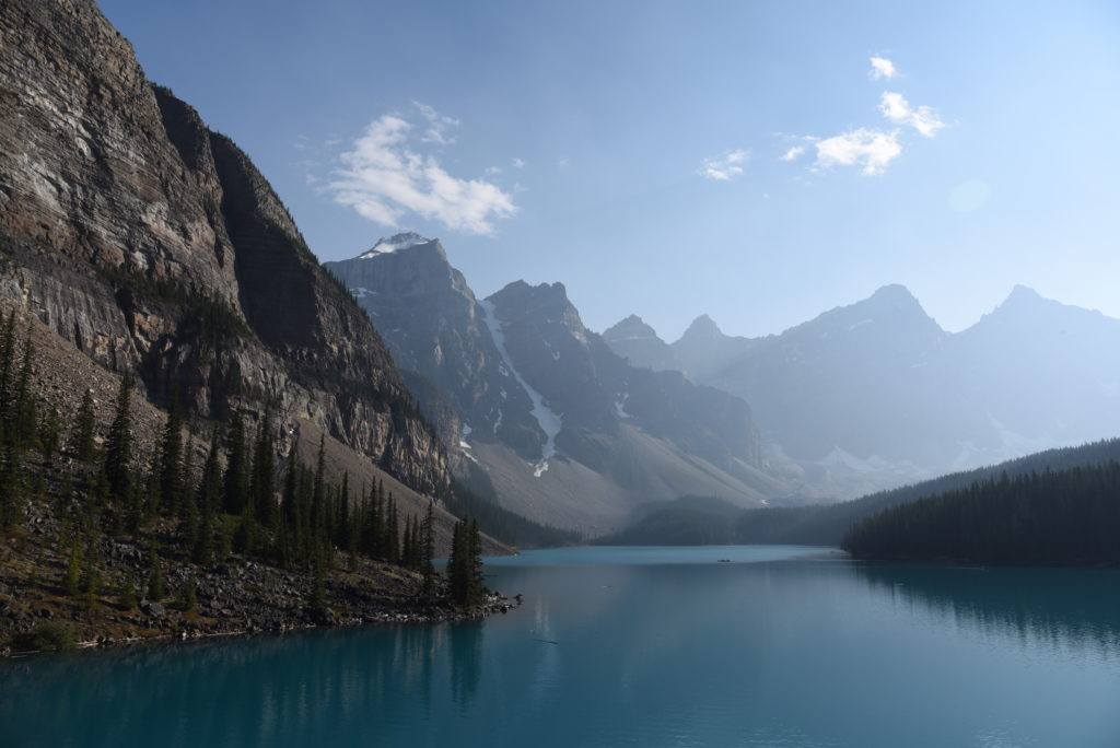 Moraine Lake and the Rocky Mountains