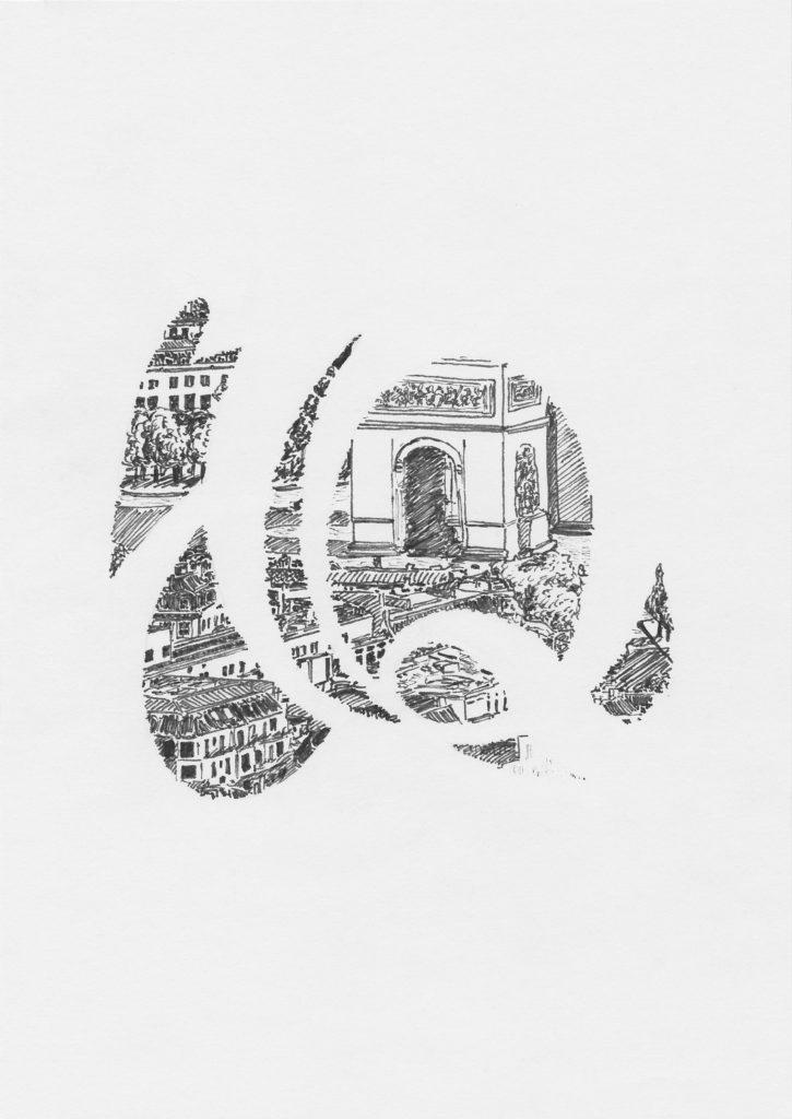 drawing of Paris