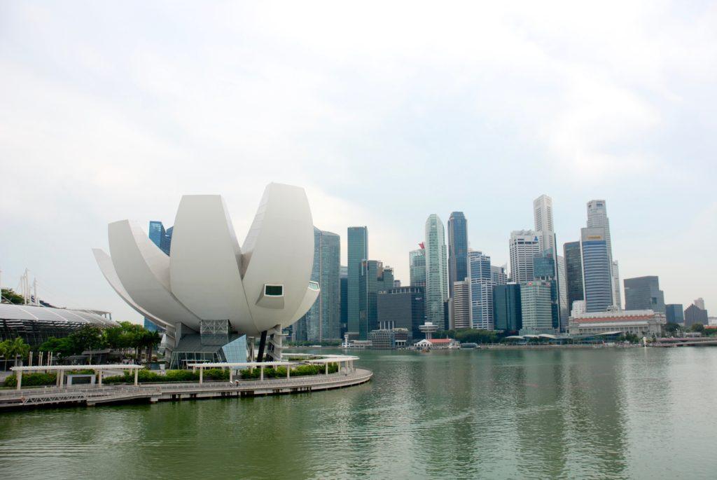 Singapore skyline and ArtScience museum