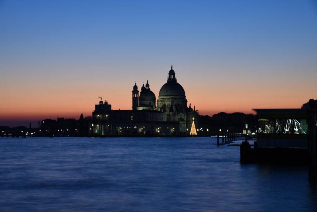 Basilica di Santa Maria delle Salute at dusk