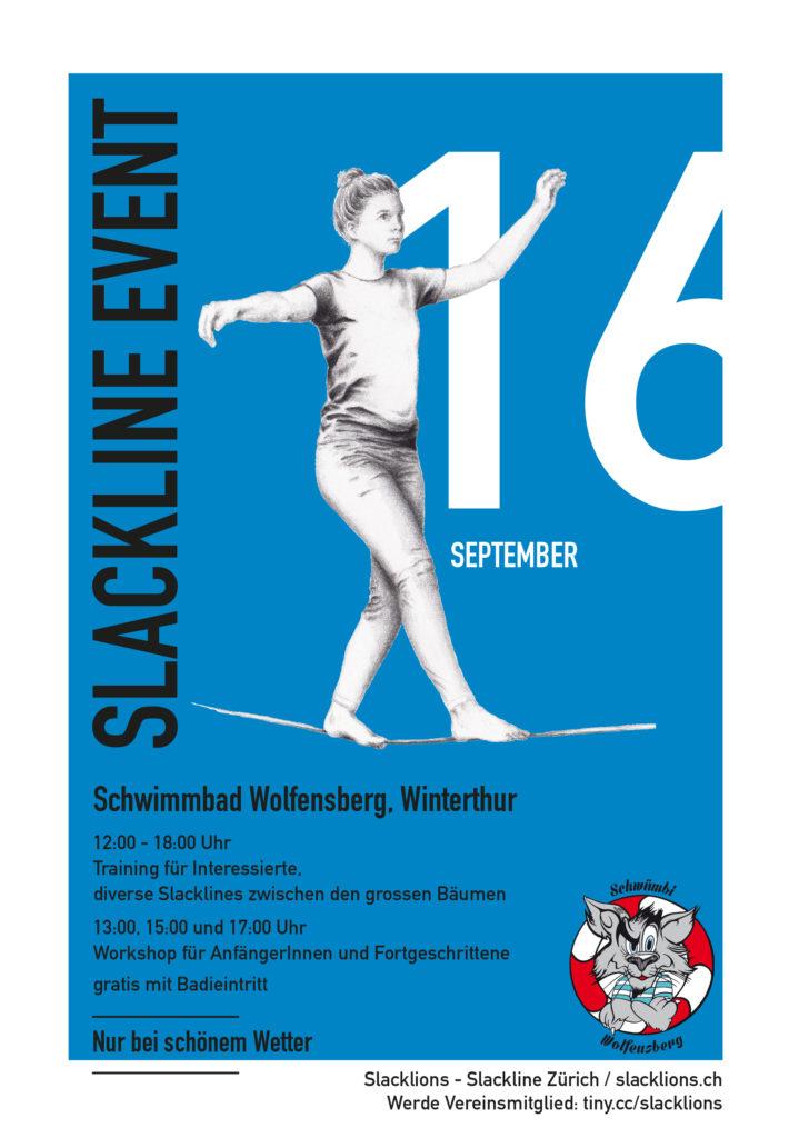 Slackline Event Flyer