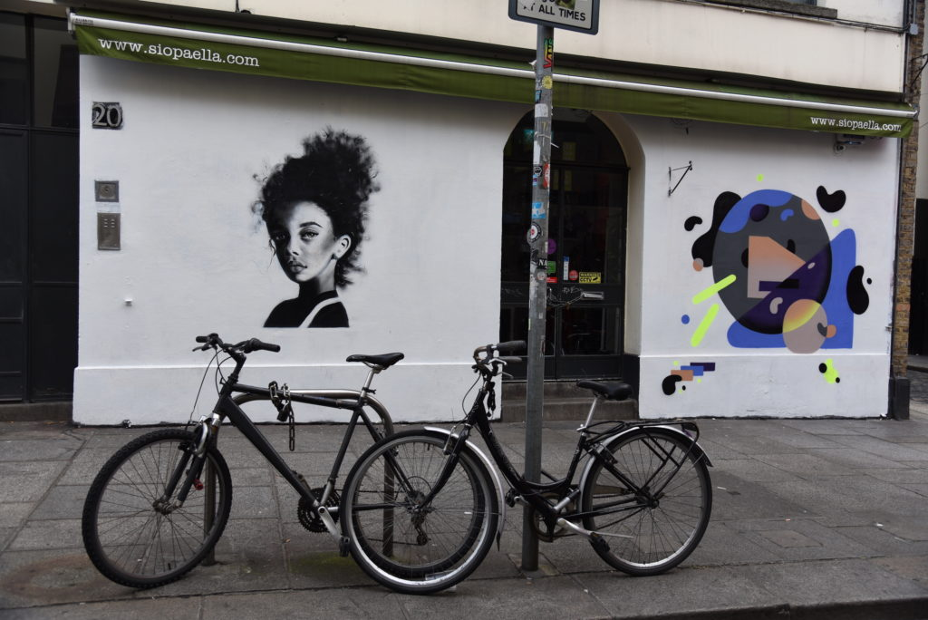 street art and bicycles
