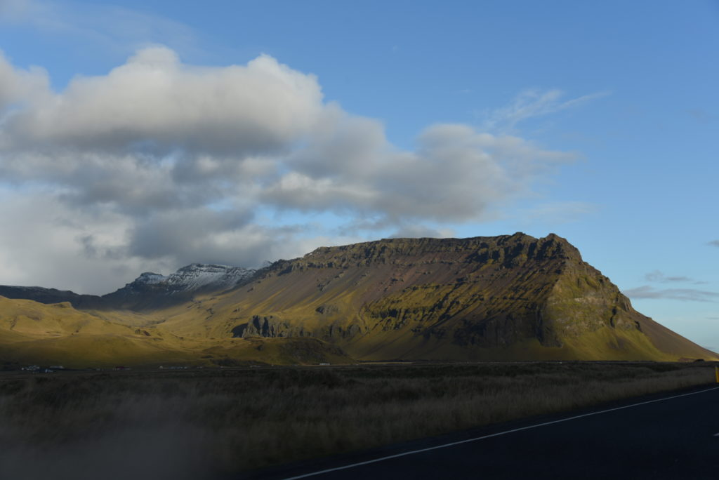 Icelandic landscape with mountains