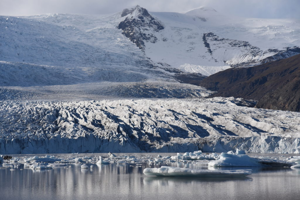 glacier and glacier lagoon